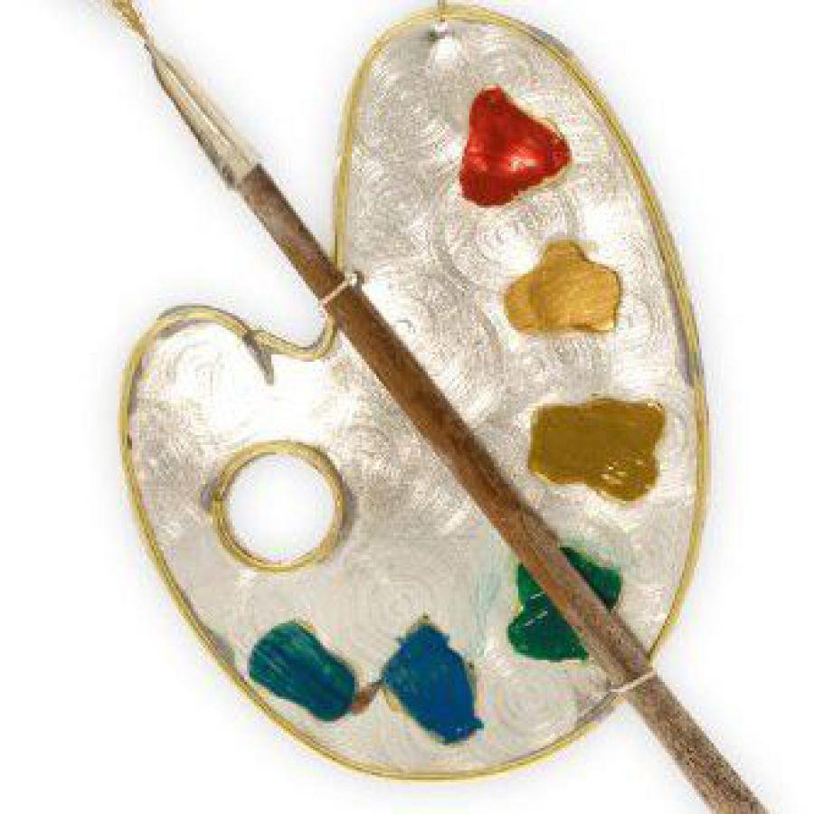 artist palette fair trade ornament