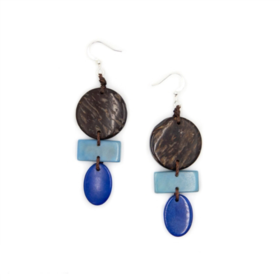 Tabua Nut Earrings