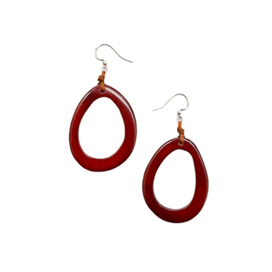 Tagua Nut Earrings