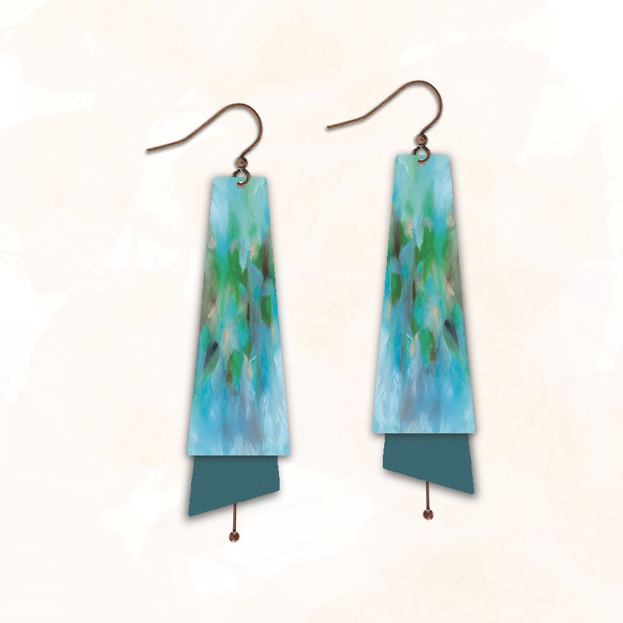 Abstract nature photography earrings