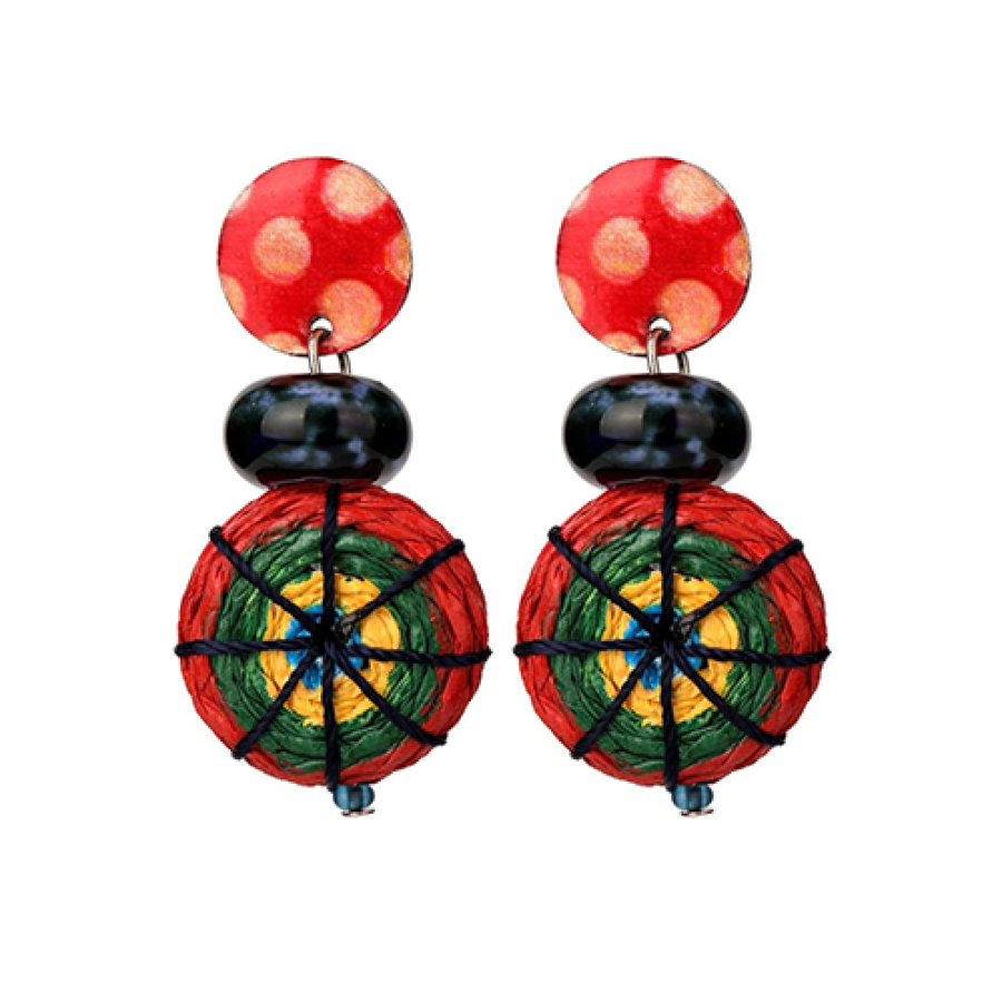 Allegra Post Earrings with Drop