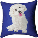 Bichon Dog Throw Pillow