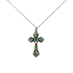 Firefly Mosaic Cross Necklace